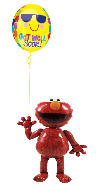 Elmo Get Well Bouquet (1 Airwalker, 1 Orbz)