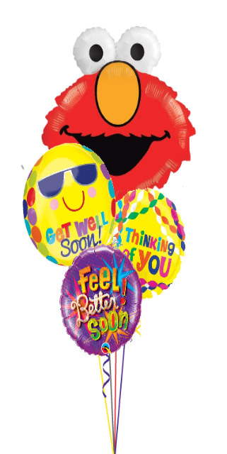 Elmo Get Well Soon Bouquet (4 Foils)