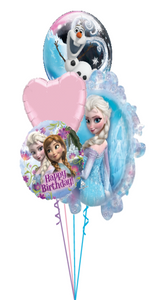 Frozen Birthday Bouquet (3 Foils, 1 Bubble)