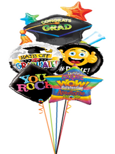 Grad Hat Foil Assortment Grad Bouquet (5 Foils)
