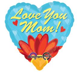"Heart Shaped ""Love You Mom!"""