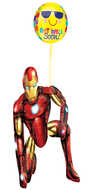 Iron Man Get Well Bouquet ( 1 Airwalker 1 Orbz )