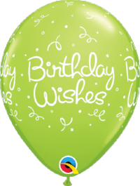 "11"" Birthday Wishes Dots/Confetti Latex"