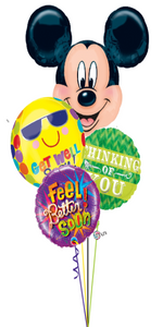 Mickey Mouse Get Well Bouquet (4 Foils)