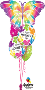 Mother's Day Butterfly Bouquet (1 Large Foil, 2 Foils, 2 Latex)