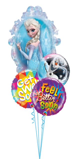 Frozen Get Well Bouquet (1Bubble, 3 Foils)