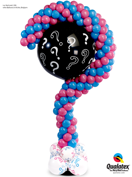 Question Mark Gender Reveal Column