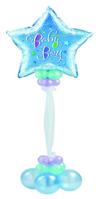 Welcome Baby Boy Floor Bouquet (1 Giant Star, 20 Latex)