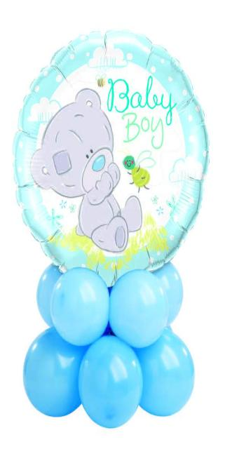 Baby Boy Bear Centerpiece (1 Foil, 10 Latex)