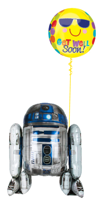 R2D2 Get Well Bouquet (1 Airwalker, 1 Orbz)