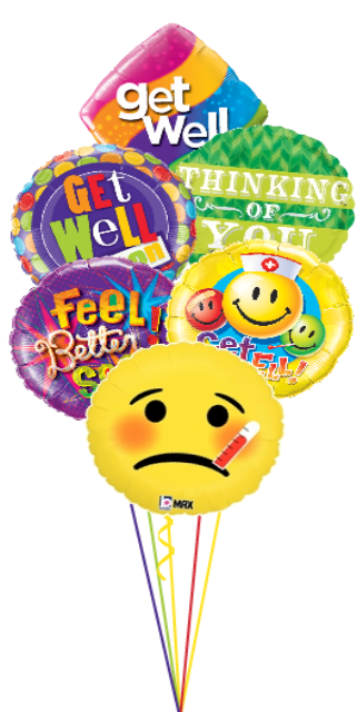 Expressions Bouquet Get Well Soon (6 Foils)
