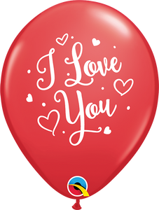 "11"" Valentines Day I Love You Script"