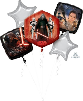 Star Wars Balloon Bouquet Kit (5 Latex Free Balloons)