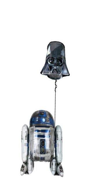 R2D2 and Vadar (1 Airwalker, 1 Large Foil)