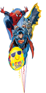 Superhero Get Well Bouquet (4 Foils)