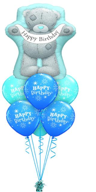 Tatty Teddy Birthday Luxury. (1 Large Foil, 6 Latex)