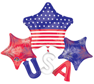 "51"" USA Stars Multi Balloon"