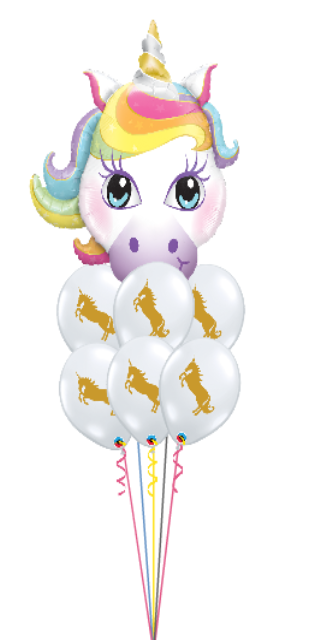 Unicorn Birthday Bouquet (6 Latex, 1 Large Foil)