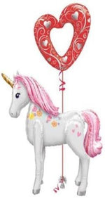 Unicorn Love Bouquet (1 Airwalker, 1 Large Latex)