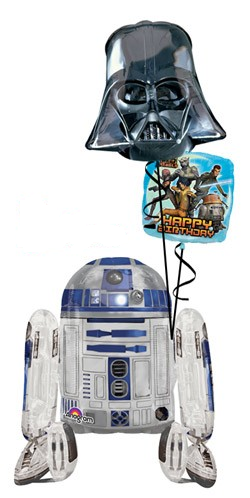 R2D2 Airwalker Bouquet (1 Airwalker, 2 Foils)