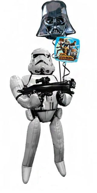 Storm Trooper Airwalker Bouquet (1 Airwalker, 2 Foils)