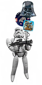 Storm Trooper Airwalker Bouquet (1 Airwalker, 1 Bubble, 2 Foils)