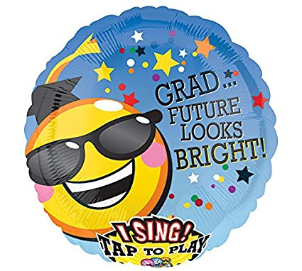 Grad Future Looks BRIGHT Singing Balloon