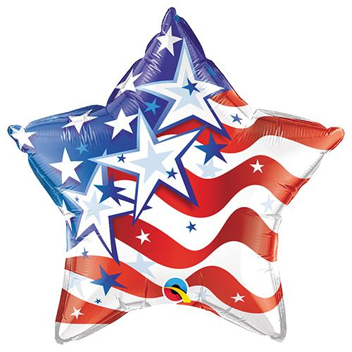 Patriotic Stars & Stripes Star