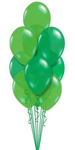 St Patty's Shades of Green Bouquet (19 Latex)