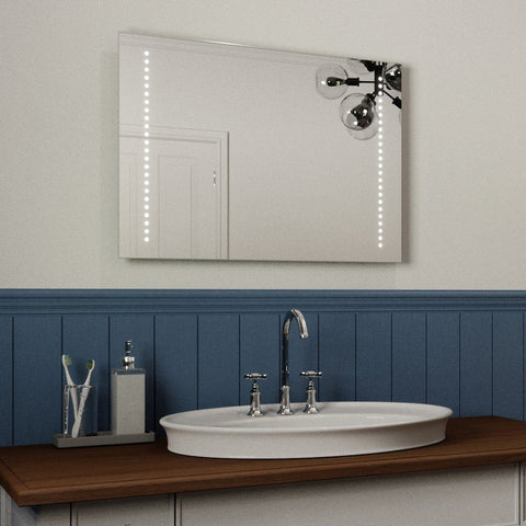 ALANA ULTRA SLIM LED BATHROOM MIRROR, IP44 RATED 50X70CM