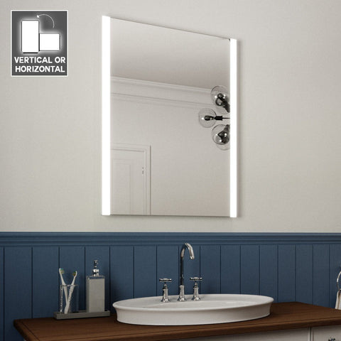ELAINE LED ILLUMINATED BATHROOM MIRROR WITH LIGHTS, DEMISTER PAD AND MOTION SENSOR 80X60CM