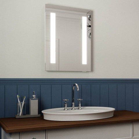FIONA LED ILLUMINATED BATHROOM MIRROR, ULTRA SLIM, IP44 RATED 45X60CM