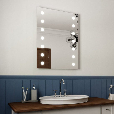 VANITY LED ILLUMINATED BATHROOM VANITY MIRROR 80X60CM