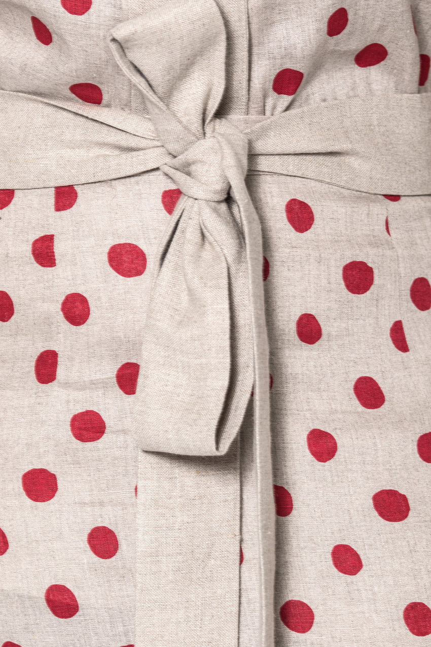 Linen Polka Dot Skirt