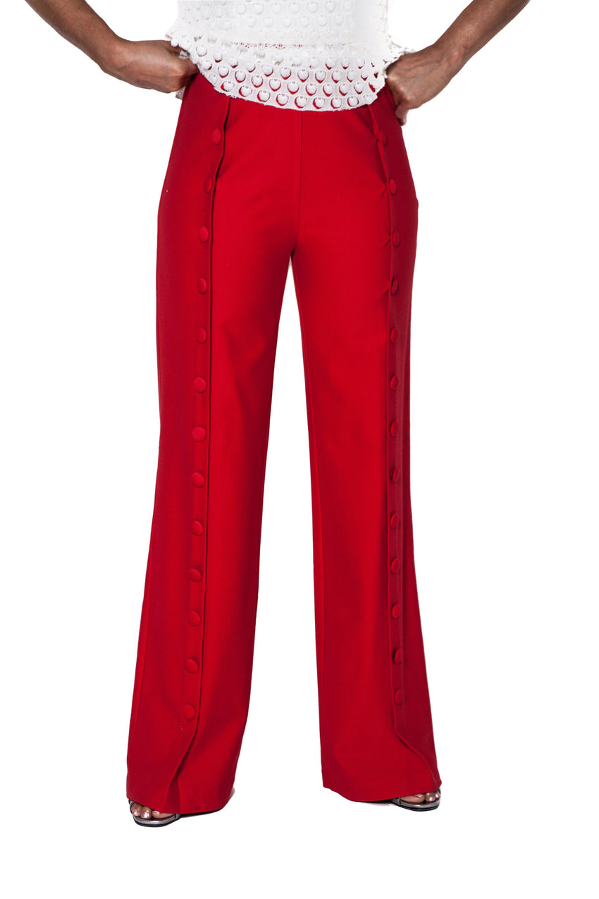 Button High Waist  Pants