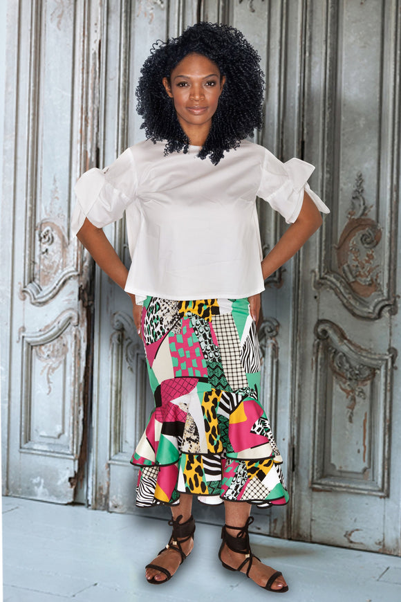 Cotton Sateen Skirt