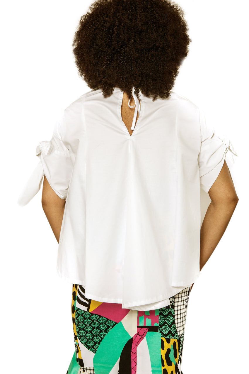 Cotton Tie Sleeve Top