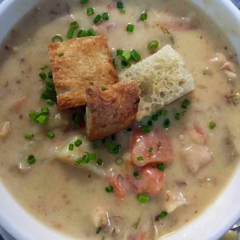 Kevin's homemade Clam Chowder