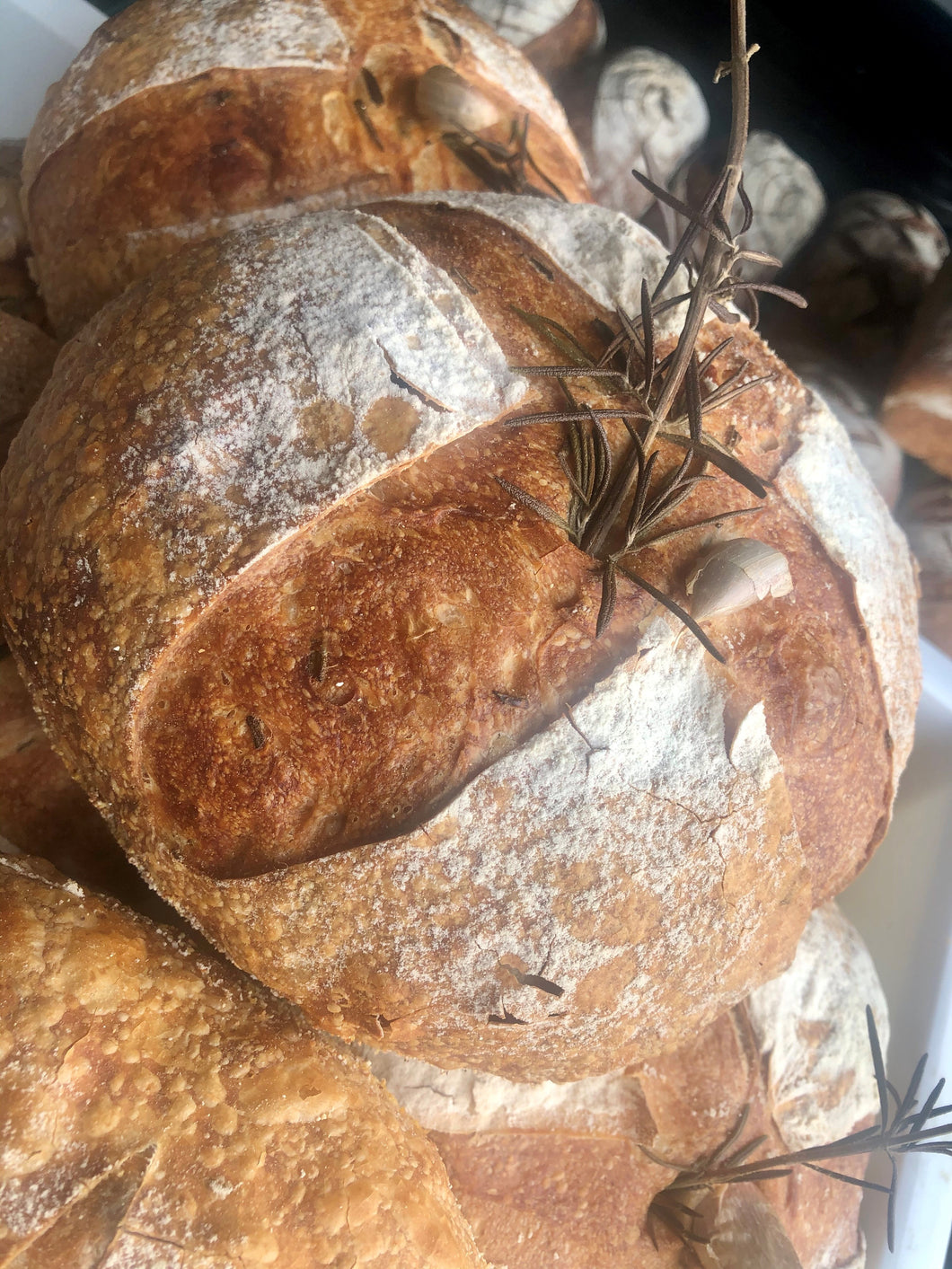 Rosemary & Roasted Garlic Sourdough