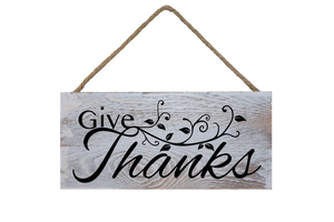 #GiveThanks Hanging Wall Plank