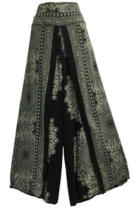 Gypsy Hippie Palazzo Gaucho Cotton Wrap Boho Yoga Pants Rashmi - Ambali Fashion