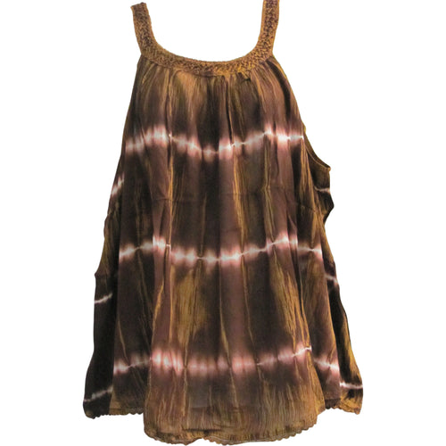 Missy & Plus Indian Bohemian Sleeveless Cami Tank Top Blouse TIE-DYE - Ambali Fashion