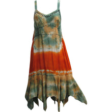 Embroidered Bohemian Tie-Dye Adjustable Sleeveless Long Sun Dress Purvi - Ambali Fashion