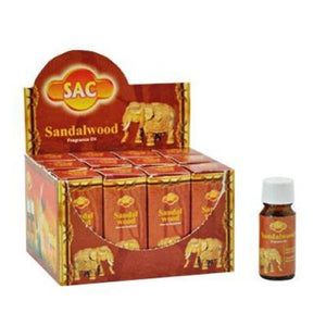 SAC Sandalwood Fragrance Oil - 10 ml (1/3 Fl. Oz), Set of 2 - Ambali Fashion