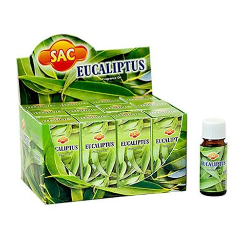 SAC Eucalyptus Fragrance Oil - 10 ml (1/3 Fl. Oz), Set of 3 - Ambali Fashion