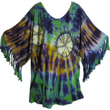 Urban Fashion Bohemian Lagenlook Long Tie-Dye Tunic Dress Blouse - Ambali Fashion