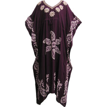 Indian Boutique Embroidered Paisley Bohemian Gypsy Long Caftan Dress - Ambali Fashion