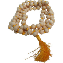 108ct 9mm Tulsi Wood Beads Tibetan Hindu Buddhist Om Carved Mala Bead Necklace w/ Gift Pouch - Ambali Fashion