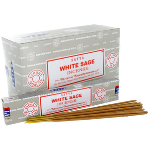 Satya Nag Champa Fragrance White Sage Incense Sticks 12-pack - Ambali Fashion