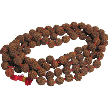 10mm 108 Rudraksha 5-Face Mala Bead Necklace Prayer Yoga Japa Shiva Energy Rosary - Ambali Fashion